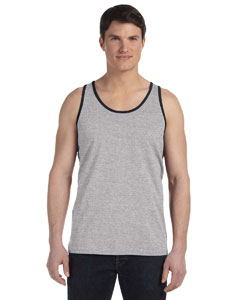 Athletic Htr/blk Unisex Jersey Tank