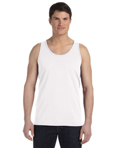 White Unisex Made in the USA Jersey Tank
