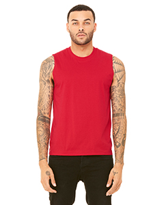 Red Unisex Jersey Muscle Tank