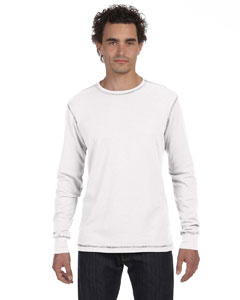 White/grey Men's Thermal Long-Sleeve T-Shirt