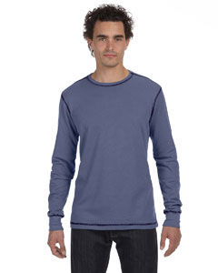 Steel Blue/navy Men's Thermal Long-Sleeve T-Shirt