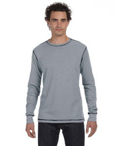 Granite/black Men's Thermal Long-Sleeve T-Shirt