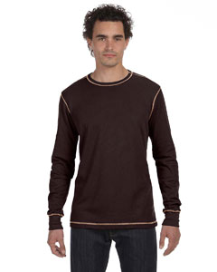 Brown/tan Men's Thermal Long-Sleeve T-Shirt