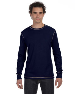 Navy/grey Men's Thermal Long-Sleeve T-Shirt