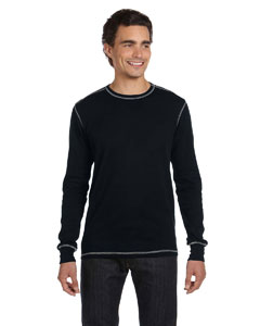 Black/black Men's Thermal Long-Sleeve T-Shirt