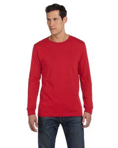 Red Men's Jersey Long-Sleeve T-Shirt