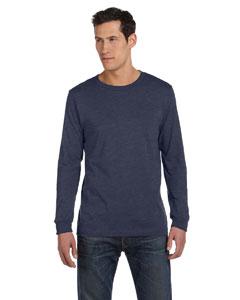 Heather Navy Men's Jersey Long-Sleeve T-Shirt