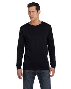 Black Men's Jersey Long-Sleeve T-Shirt