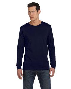 Navy Men's Jersey Long-Sleeve T-Shirt
