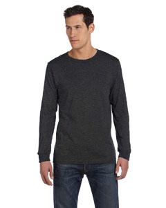 Dark Grey Heather Men's Jersey Long-Sleeve T-Shirt