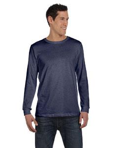 Navy Triblend Men's Jersey Long-Sleeve T-Shirt
