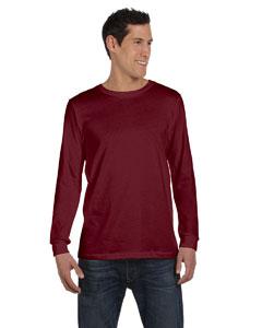 Maroon Triblend Men's Jersey Long-Sleeve T-Shirt
