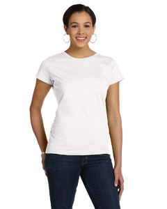 White Women's Fine Jersey Longer Length T-Shirt