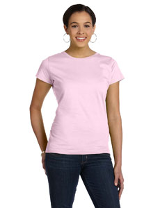 Pink Women's Fine Jersey Longer Length T-Shirt