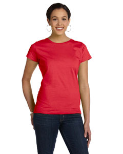 Red Women's Fine Jersey Longer Length T-Shirt