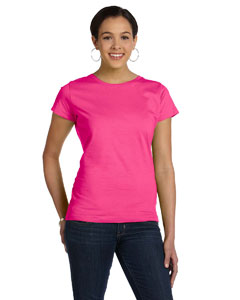 Hot Pink Women's Fine Jersey Longer Length T-Shirt