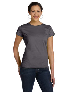 Charcoal Women's Fine Jersey Longer Length T-Shirt