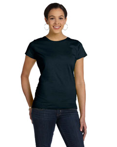 Black Women's Fine Jersey Longer Length T-Shirt