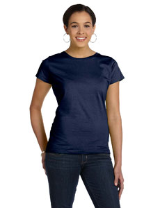 Navy Women's Fine Jersey Longer Length T-Shirt