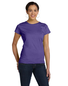 Purple Women's Fine Jersey Longer Length T-Shirt