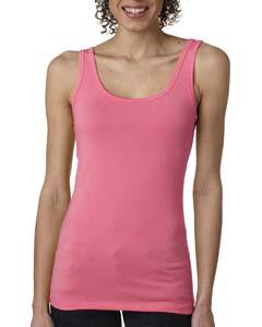 Hot Pink Ladies' Jersey Tank Top