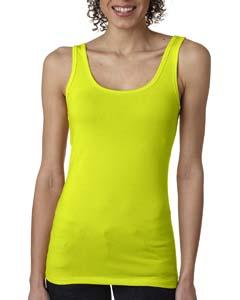 Neon Yellow Ladies' Jersey Tank Top