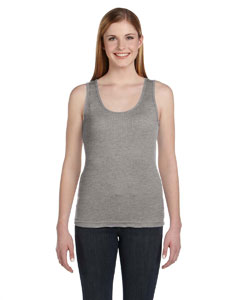 Heather Women's Combed Ringspun 2x1 Rib Tank