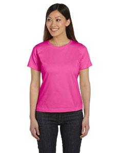 Raspberry Women's Combed Ringspun Jersey T-Shirt