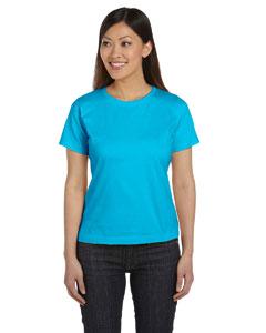Aqua Women's Combed Ringspun Jersey T-Shirt