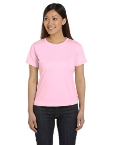 Pink Women's Combed Ringspun Jersey T-Shirt