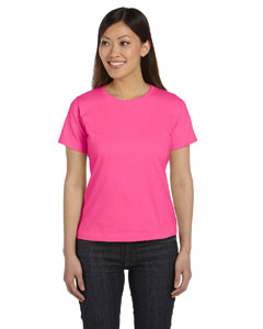 Hot Pink Women's Combed Ringspun Jersey T-Shirt
