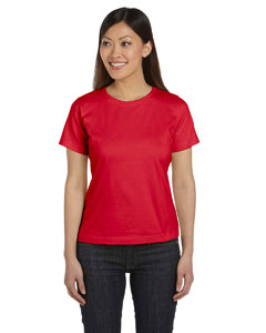 Red Women's Combed Ringspun Jersey T-Shirt