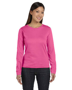 Raspberry Women's Combed Ringspun Jersey Long-Sleeve T-Shirt