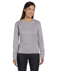 Heather Women's Combed Ringspun Jersey Long-Sleeve T-Shirt