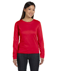Red Women's Combed Ringspun Jersey Long-Sleeve T-Shirt