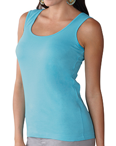 Aqua Women's Scoop Neck Jersey Tank
