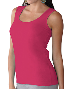 Hot Pink Women's Scoop Neck Jersey Tank