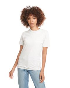 White Men's Premium Fitted Short-Sleeve Crew