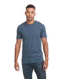 Indigo Men's Premium Fitted Short-Sleeve Crew