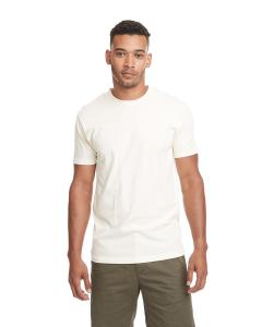 Cream Men's Premium Fitted Short-Sleeve Crew