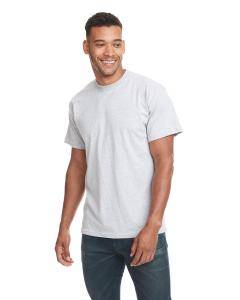 Heather Gray Men's Premium Fitted Short-Sleeve Crew