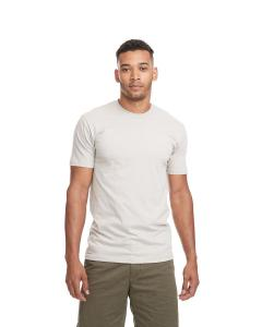 Light Gray Men's Premium Fitted Short-Sleeve Crew