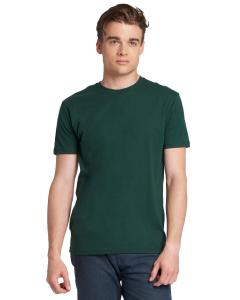 Forest Green Men's Premium Fitted Short-Sleeve Crew