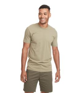Light Olive Men's Premium Fitted Short-Sleeve Crew