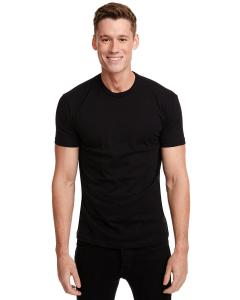 Black Men's Premium Fitted Short-Sleeve Crew