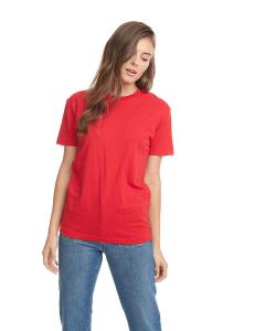 Red Men's Premium Fitted Short-Sleeve Crew
