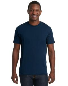 Midnight Navy Men's Premium Fitted Short-Sleeve Crew