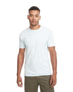 Light Blue Men's Premium Fitted Short-Sleeve Crew