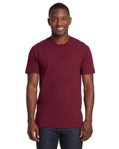 Maroon Men's Premium Fitted Short-Sleeve Crew