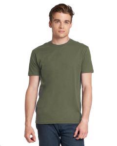 Military Green Men's Premium Fitted Short-Sleeve Crew